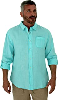 Men's Long Sleeve Linen Shirt, with roll up Sleeves