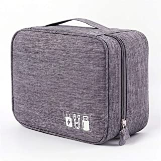 Portable Electronic Organizer Travel Accessories Cable Bag Universal Cord Storage Case Carrying for Charging Cable, Cell P...