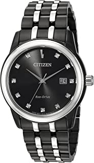 Citizen Men`s `Diamond` Quartz Stainless Steel Casual Watch, Color:Two Tone (Model: BM7348-53E)