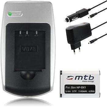CARICABATTERIE USB 2x BLUMAX BATTERIA np-bx1 1100mah per Sony Cyber-shot dsc-hx60v