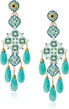 product image for Miguel Ases Prehnite and Green Quartz Chandelier Drop Earrings