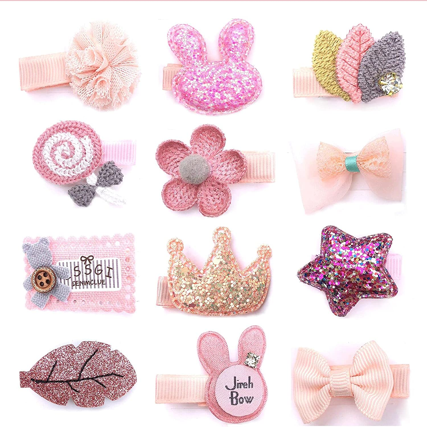 hair clips for babies toddler hair clips Baby Girl's Hair ClipsCute Hair Hairpins Set Cute Hair Bows For Baby Girls Toddlers Baby Girls Hair Accessories Clipsfor Infant and Toddlers