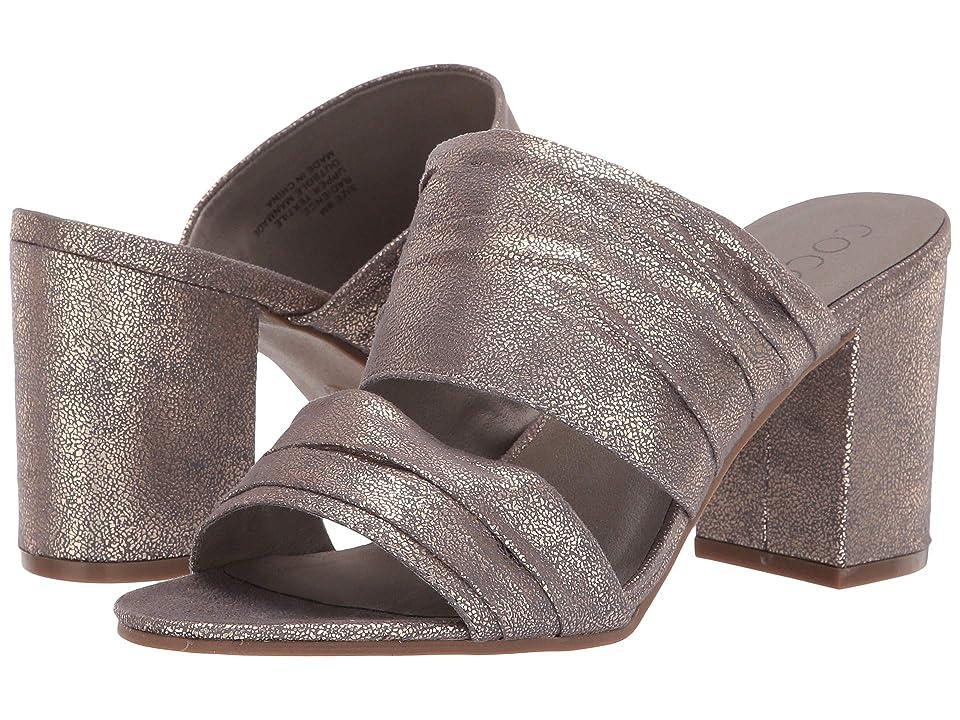 Matisse Radience Block Heel Mule (Pewter) Women's Clog/Mule Shoes
