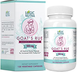 Goats Rue Organic Herb Lactation Aid Support Supplement for Breastfeeding Mothers, 120 Vegetarian Powder Capsules 500 mg per Vegetarian Capsule Compare to Others in The Category