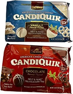 Log House Candiquik Candy Coating - One Vanilla, One Chocolate With Microwavable Trays - Holiday Christmas Baking Supplies