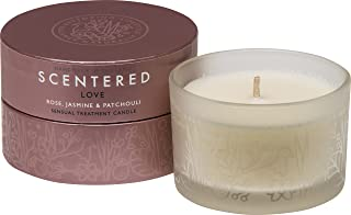 Scentered Love Aromatherapy Scented Candle -Travel Size - Rose, Cedarwood & Jasmine Blend - Actively Encourages Feelings of Romance, Sensuality & Wellbeing