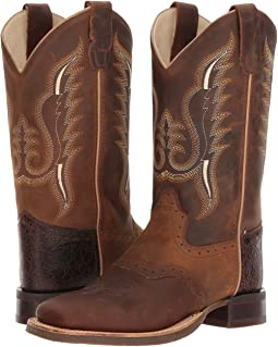 Old West Kids Boots - Broad Square Toe (Big Kid)