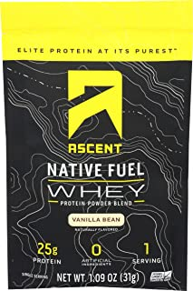 Ascent, Protein Whey Vanilla Bean Single Packet, 1.09 Ounce