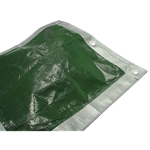 Faithfull 5.4 x 3.6m/ 18 x 12ft Tarpaulin - Green/Silver