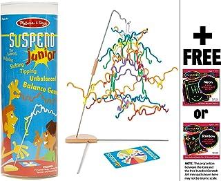 Melissa & Doug Suspend Junior - Family Game & 1 Scratch Art Mini-Pad Bundle (04276)