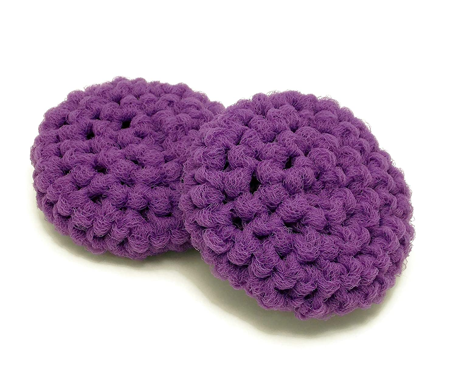 Handmade Purple Reusable Dish 2 Set of Scrubbers Our Max 45% OFF shop most popular