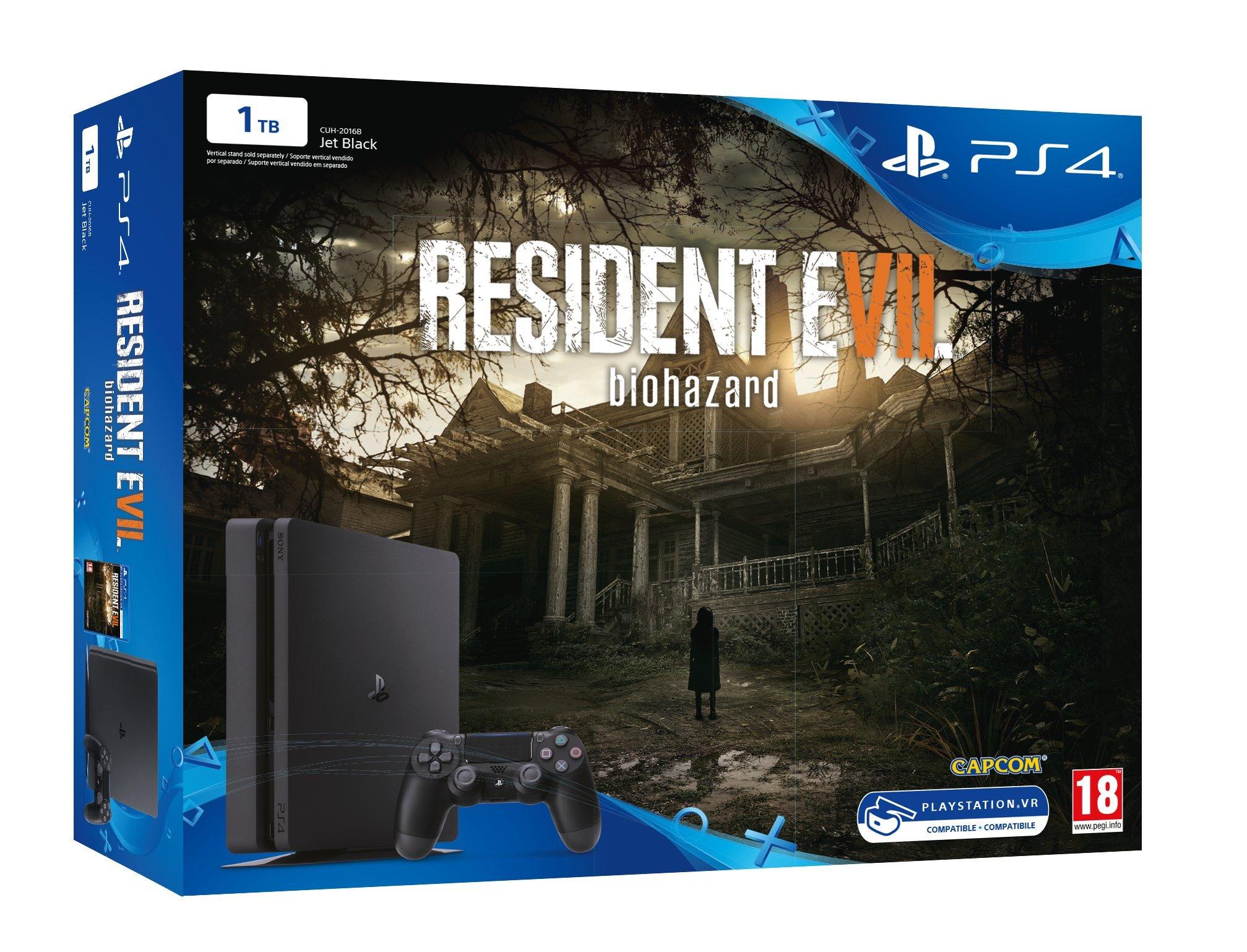 PlayStation 4 Slim (PS4) 1TB - Consola + Resident Evil VII: Amazon ...