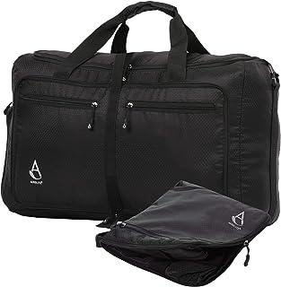 55x35x20cm 39L Equipaje de mano Bolsa Compacta y Plegable Ultra Ligera Bolsa de Viaje Bolsa de Deporte Bolsa de Vuelo 55x35x20 , Negro
