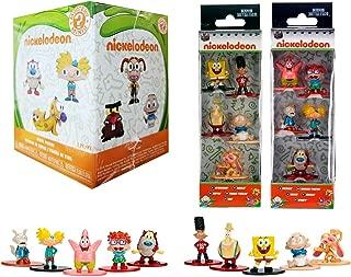 The 90's Nick Figs 11 Figure Collection Ren & Stimpy Spongebob Squarepants Nickelodeon Mini Nano Character Figures Metal Squidward & Patrick Rugrats / Hey Arnold / Rocko's Modern Life Cartoon Bundle