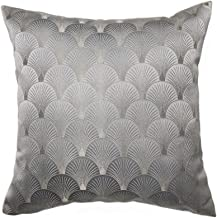 CUNACULLA Throw Pillow Cover Decorative Soft Square Cushion Case for Bed Sofa 18 x 18 Inch 45x45 cm (Grey)