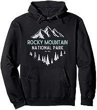 Rocky Mountain Vintage National Park Colorado Souvenir Pullover Hoodie