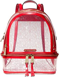 Michael Kors Rhea Zip Backpack (Red/Clear)