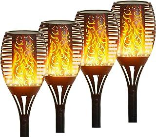 Yepran Upgraded Solar Lights Outdoor, 96 LED Solar Torch Light with Flickering Flame Waterproof Landscape Lighting Decorat...