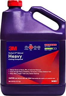 3M ((36103) Perfect-It Gelcoat Heavy Cutting Compound For For Boats and RVs - 1 Gallon