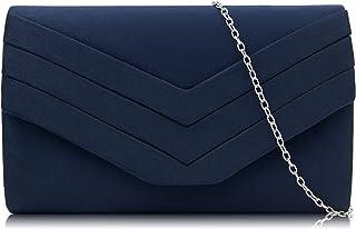 2a6daa0136 Milisente Clutch Purses Crossbody Shoulder Handbags for Women, Velvet  Envelope Evening Clutch Bag