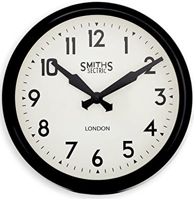 Yoobure 10 Silent Quartz Decorative Wall Clock Non Ticking Classic Digital Clock Battery Operated Round Easy To Read Home Office School Clock Home Kitchen