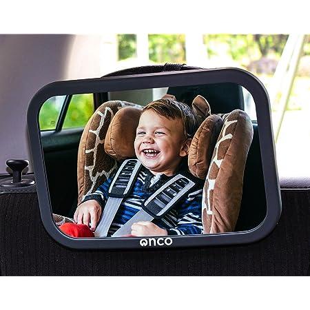 Onco Espejo Coche Bebé Asiento Trasero - 100% a Prueba de Roturas - Conduce Seguro y Observa a Tu Hijo - Accesorios Esencial para Padres Primerizos - Ganador del Premio MadeForMums