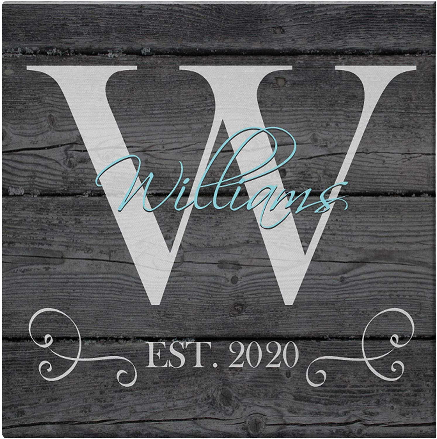 Let's Make Memories Family Dealing full price reduction Initial W Personalized Name Canvas Regular store