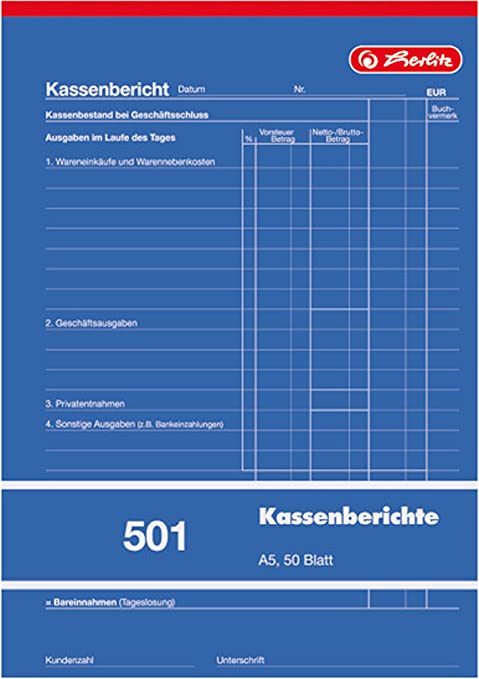 Herlitz Lieferscheinbuch 201 Mit Kohlepapier A5 2 X 50 Blatt Bürobedarf Schreibwaren