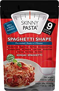 Skinny Pasta 9.52 oz - The Only Odor Free 100% Konjac Noodle (Shirataki Noodles) - Pasta Weight loss - Low Calorie Food - Healthy Diet Pasta - Spaghetti - 6-Pack