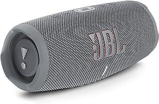 JBL Charge 5 Portable Waterproof Speaker with Powerbank, Gray, JBLCHARGE5GRY, Large
