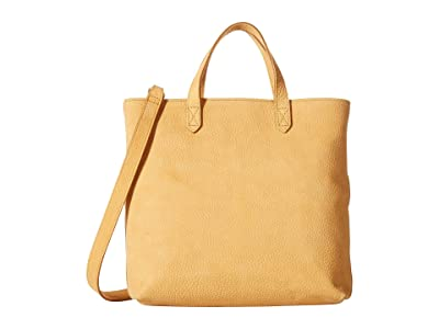 Madewell Zip Top Transport Crossbody in Nubuck (Bright Marigold) Handbags