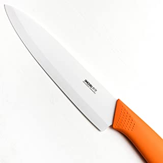 """Best Ceramic Chef Knife by IMORI - Chef Rated 8"""" Blade with SafeEdge Back Corner"""