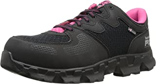 Timberland PRO Women`s Powertrain Alloy Toe ESD W Industrial Shoe,Black/Pink Microfiber And Textile,7.5 W US
