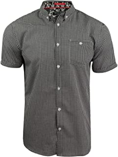 Brave Soul Mens Gingham Shirt by Clement' With Buton Down Collar