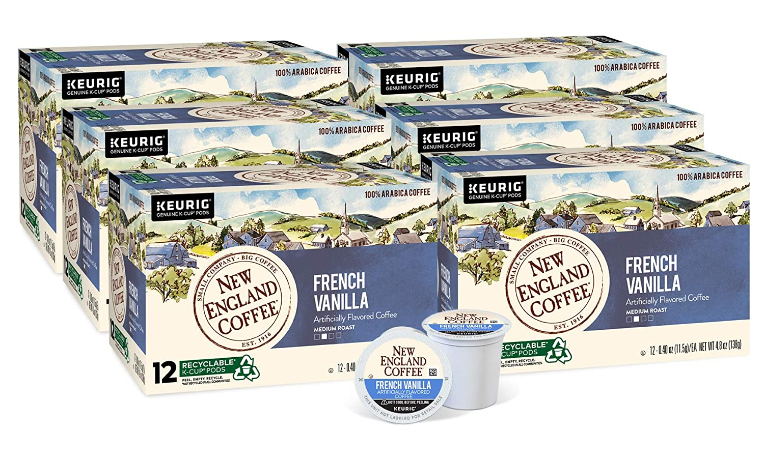 New England Ranking TOP9 Coffee French Vanilla Medium Roast Pods Ultra-Cheap Deals ct. 12 K-Cup