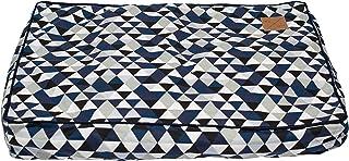 MOG & BONE Classic Cushion Dog Bed Blue Diamond Print Small