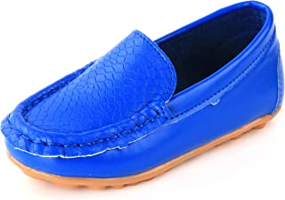 LONSOEN Toddler Little Kid Boys Girls Soft Slip On Loafers Dress Flat Shoes