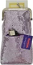 New Design Sequin Cigarette Soft Mesh 100s 120 S Cigarette Case with Lighter Pocket By Marshal (Purple)