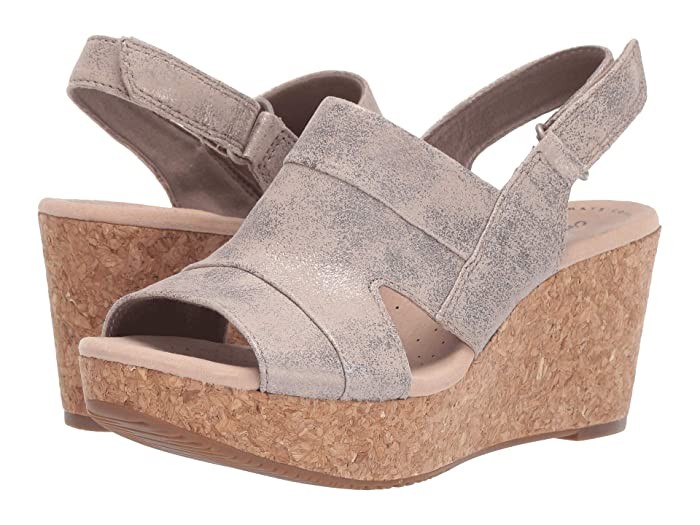 Clarks  Annadel Ivory (Pewter Suede) Womens  Shoes