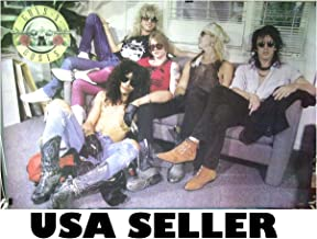 Guns n' Roses sit on couch horiz POSTER 34 x 23.5 & Axl Slash GnR (sent FROM USA in PVC pipe)