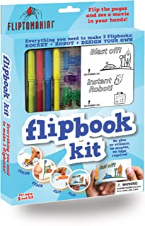 Fliptomania Flipbook Animation Kit - Rocket & Robot