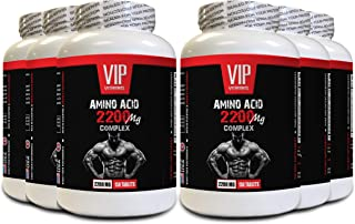 Muscle Growth Supplements for Men - Amino Acid Complex 2200 MG - 8 Essential Amino acids - 6B (900 Tablets)