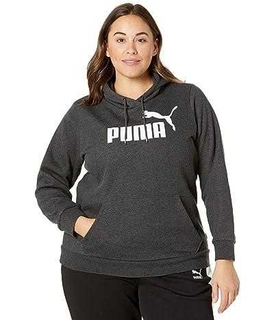 PUMA Plus Size Essentials Logo Fleece Hoodie