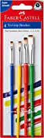 Faber-Castell Tri-Grip Brush - Flat, Pack of 4 (Assorted)