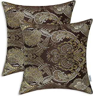 gold and brown throw pillows