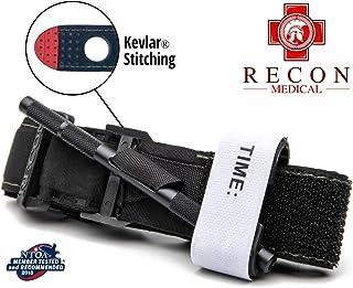 Recon Medical BLK-1PAK-FBA Tourniquet - (Black) Gen 3 Mil-Spec Kevlar Metal Windlass Aluminum First Aid Tactical Swat Medi...