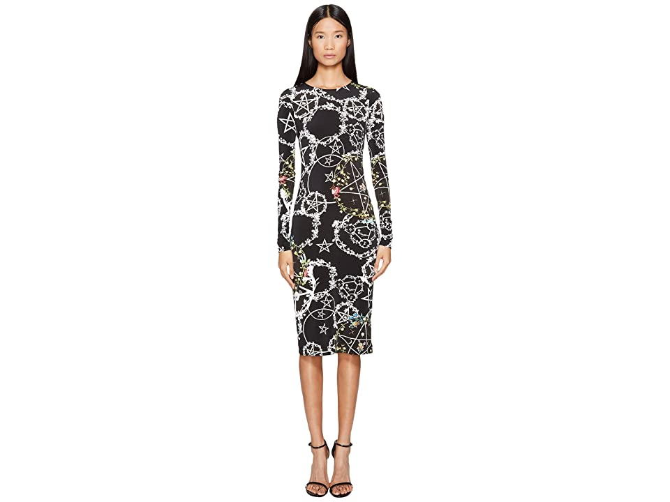 Preen by Thornton Bregazzi Cherry Long Sleeve Stretch Crepe Dress (Witch Ring Black) Women
