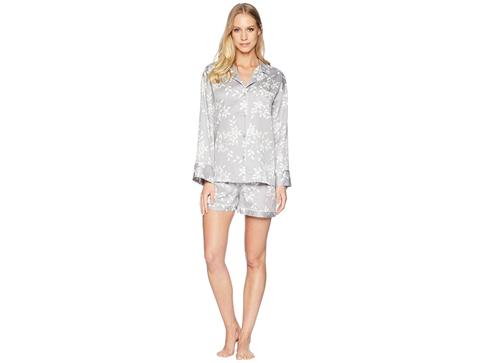 Natori Branche Short PJ Set (Dark Lead) Women