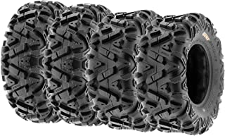 Set of 4 SunF Power.I ATV UTV all-terrain Tire 27x9x14 and 27x11x14, 6PR, 4PCS, Tubeless A033