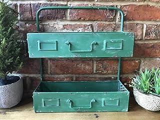 Estantería de pared con estilo industrial retro, color verde